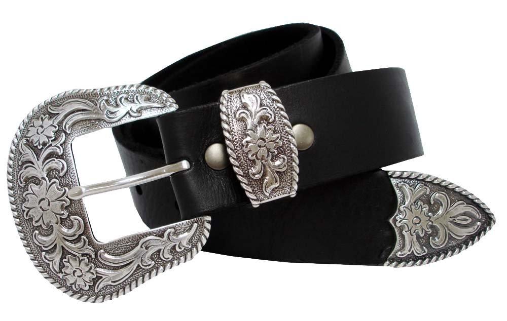 S5521 Western Full Grain Leather Belt Black 42 - $28.65