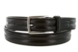 Made in Italy Oil-Tanned Italian Leather Dress Belt For Women (Black, 34) - $19.75