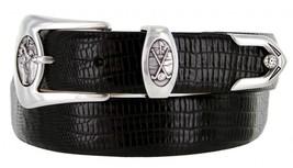 Monterey Italian Calfskin Leather Designer Dress Belts for Men(44, Lizard Black) - $29.20