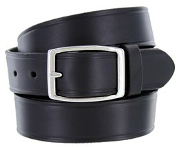 """Full Leather Work Uniform Belt with Rectangular Buckle 1 and 1/4"""" Wide Black 38 - $26.23"""