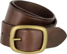 Tennessee Brass Buckle Leather Work and Uniform Casual Jean Belt (Brown, 36) - $32.66