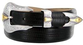 Colorado Italian Calfskin Leather Designer Dress Belts for Men(44, Lizard Black) - $29.20