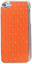 Reiko Diamond Leather Protector Cover iPhone5 - Retail Packaging - Orange - $6.57 CAD