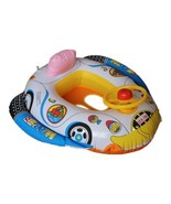 Safe Cartoon Baby Swimming Seat Ring Kids Inflatable Car Style Pool Floa... - $7.78