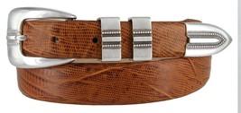 Vincent Silver Genuine Italian Calfskin Leather Designer Dress Belt for Men(L... - $29.69
