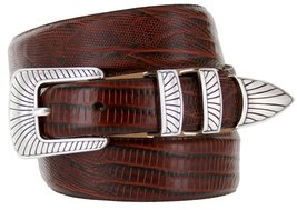 Nevada Men's Designer Genuine Italian Calfskin Leather Dress Belt (52, Lizard... - $29.20