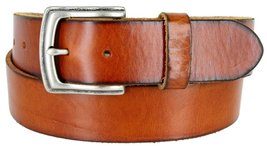 "Men's Genuine Full Grain Leather Casual Jeans Belt 1-1/2"" = 38mm (36, Tan) - $22.27"