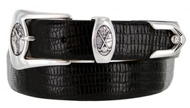 Monterey Italian Calfskin Leather Designer Dress Belts for Men(46, Lizard Black) - $29.20