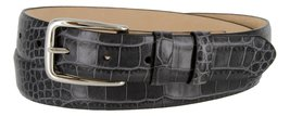 Armana Genuine Italian Calfskin Leather Dress Belt for Women(Alligator Gray, 34) - $27.71