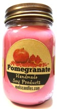 Pomegranate 16oz All Natural Country Jar Soy Candle - Apx Burn Time 144 ... - €10,83 EUR