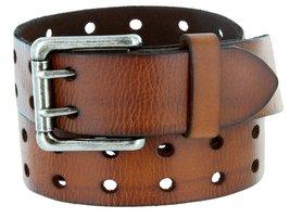 Metro Antique Twin Roller Buckle Vintage Leather Belt Brown 30 - $28.65