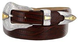 Colorado Italian Calfskin Leather Designer Dress Belts for Men(44, Lizard Brown) - $29.20