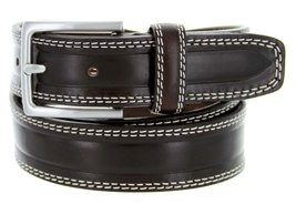"""S074/35 Men's Italian Leather Dress Casual Belt 1-3/8"""" Wide Made in Italy(bro... - $19.75"""