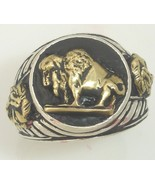 10 Karat Gold American Buffalo Indian Warrior Sterling Silver Mens  Pink... - $222.75