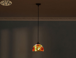Tiffany Style Sunflower Pendant E27 Light Ceiling Lamp Hanging Lighting Fixture - $55.94