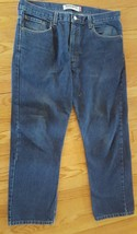 LEVI STRAUSS & CO. 505 Men's Dark Blue Regular Fit Straight Leg Jeans 38 x 30 - $14.11