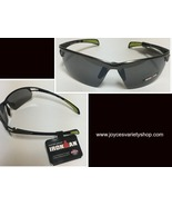 Ironman Impact Resistant Sport Sunglasses Black Green Tips NWT Free Ship... - $11.99