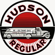 Hudson Regular Gasoline Station Motor Oil Sign - $25.74