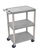 Luxor 3 Shelf Utility Cart Gray - $76.99