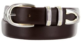 Coronado Italian Calfskin Leather Designer Dress Belts for Men (48, Smooth Br... - $29.20