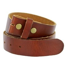 "Bs-80 Vintage Full Grain Leather Belt Strap 1 1/2"" Wide (36, Tan) - $22.71"