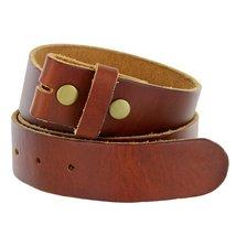 "Bs-80 Vintage Full Grain Leather Belt Strap 1 1/2"" Wide (38, Tan) - $22.71"