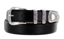 Martin Italian Calfskin Leather Designer Dress Belts for Men (36, Smooth Black) - $29.20