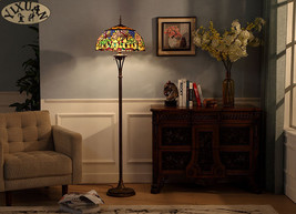 Tiffany Floor Lamp Dragonfly Wedding Light Home Stained Glass Lighting Fixture - $381.99