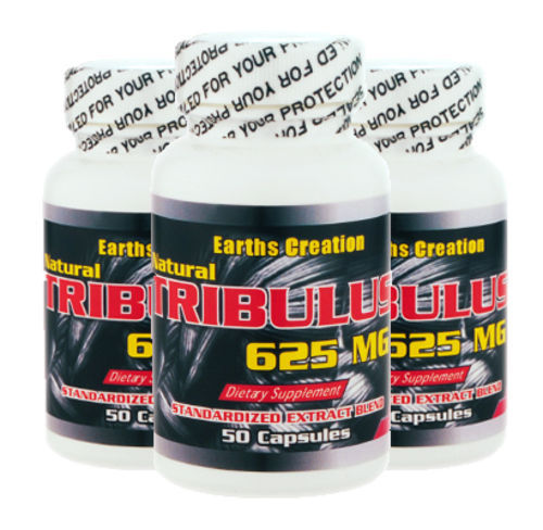 Tribulus 625mg (Testosterone Support)  3 Pack!!  by Earth's Creation USA