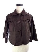 Forever 21 M Brown Wool Blend Crop Jacket Medium - $19.41