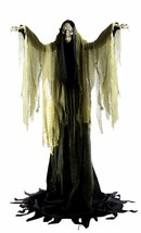 Halloween Haunted Life Size Animated Yard Prop Witch Towering 7' Tall Ey... - $192.29