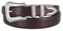 Cesar Silver Genuine Italian Calfskin Leather Designer Dress Belt for Women(S... - $29.69