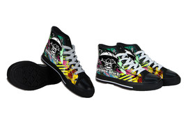Skull - Dirt Bike Canvas Shoes - $64.99