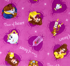 "Disney Beauty and the Beast Fleece Throy Blanket 56""x68"" Belle Mrs Potts - $129.95"