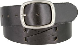 100% Full Grain Genuine Leather Western X-Laced Casual Jean Belt For Men (BLK... - $28.66