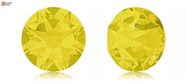 Swarovski Xirius Flat Back No-Hotfix (2088) SS30 - Yellow Opal (231) With Pla... - $32.66