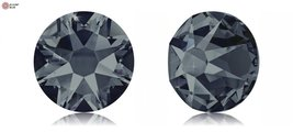 Swarovski XIRIUS Flat Back No-Hotfix (2088) SS34 - GRAPHITE (253) With Platin... - $24.74