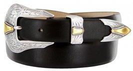 Colorado Italian Calfskin Leather Designer Dress Belts for Men(46, Smooth Black) - $29.20