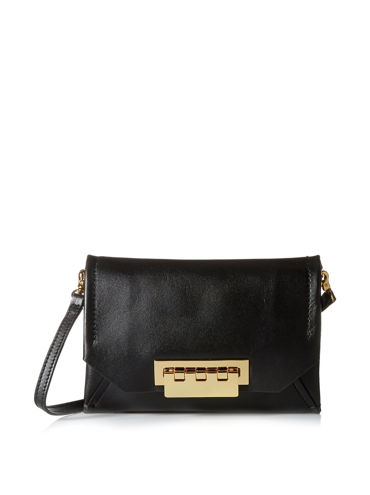 ZAC Zac Posen Women's Eartha Envelope Cross Body Bag, Black, One Size