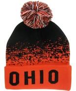 Ohio State Men's Cuffed Digital Fade Soft Winter Knit Beanie Pom Hats Bl... - $11.95