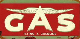 """Flying A Gasoline Metal Sign 24"""" by 14"""" - $45.00"""