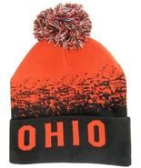 Ohio State Men's Cuffed Digital Fade Soft Winter Knit Beanie Pom Hats Red/Black - $11.95