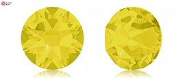 Swarovski Xirius Flat Back No-Hotfix (2088) SS12 - Yellow Opal (231) With Pla... - $6.92