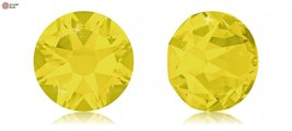 Swarovski Xirius Flat Back No-Hotfix (2088) SS12 - Yellow Opal (231) With Pla... - $55.43