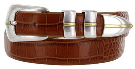 Marin Gold Genuine Italian Calfskin Leather Designer Dress Golf Belt for Wome... - $29.20