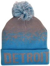 Detroit Men's Cuffed Digital Fade Soft Winter Knit Beanie Pom Hats Gray/... - $11.95