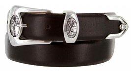 Monterey Italian Calfskin Leather Designer Dress Belts for Men(44, Smooth Brown) - $29.20