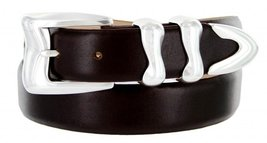 Aldo Italian Calfskin Leather Designer Dress Belts for Men(46, Smooth Brown) - $29.20
