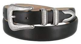 Cesar Silver Genuine Italian Calfskin Leather Designer Dress Belt for Men(Smo... - $29.69