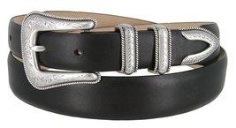 Cesar Silver Genuine Italian Calfskin Leather Designer Dress Belt for Men(Smo... - $29.69